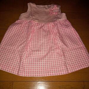 ハンドメイド 手作り スカート ワンピース チェック ピンク 子供 キッズ baby 女の子 可愛い プレゼント 洋服 服 90