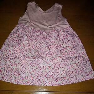 ハンドメイド 手作り スカート ワンピース 花 ピンク 子供 キッズ baby 女の子 可愛い プレゼント 洋服 服 100 2way