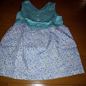 ハンドメイド 手作り スカート ワンピース 花 子供 キッズ baby 女の子 可愛い プレゼント 洋服 服 90 2way