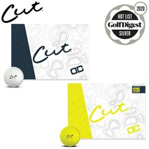 今だけポイント5倍!【CUT GOLF/カットゴルフ】 CUT DC ゴルフボール 1ダース 12球入