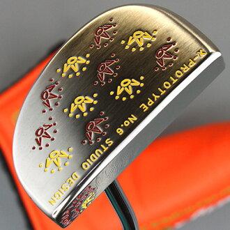 Titleist Scotty 卡梅伦工作室设计 6 号 X 原型 castamshoplogo 邮票自定义推杆和 Titleist 斯科蒂卡梅伦推杆