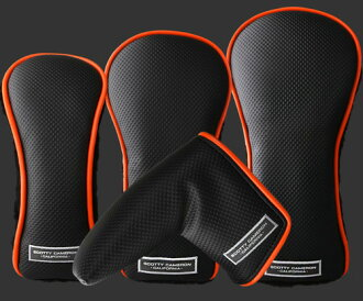 2 ■ Titleist Scotty Cameron 2013 SC California Black-Orange head cover set of 4 (PUTTER, DRIVER, FAIRWAY, UTILITY)