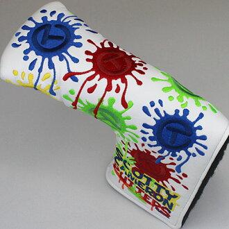斯科蒂卡梅伦 paintsplash 圆 T 白 / 多色标准头 (类型) / Titleist Scotty 卡梅伦顶盖