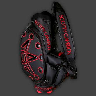 Titleist Scotty 卡梅伦 2016年员工袋超级跑车-黑-红 / Titleist 斯科蒂卡梅伦高尔夫球袋