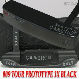 斯科蒂卡梅伦009旅游原型三倍黑色完成碳钢小组T 34英寸旅游推杆