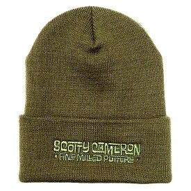 【W0370】スコッティキャメロン 2020 ビーニー帽 スコッティキャメロン ファインミルドパターズ マリブ フォント - オリーブ