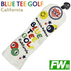 今だけポイント5倍! 【BLUE TEE GOLF/ブルーティーゴルフ】ゴルフヘッドカバー ホワイトスマイル&ピンボール フェアウェイウッド用 (ゴルフ用品 ゴルフグッズ )[敬老の日 父の日 ギフト ゴル