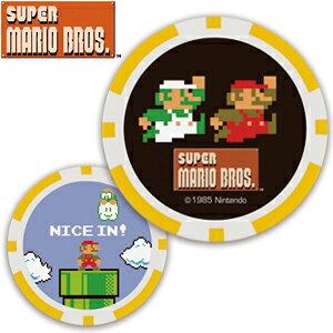 今だけポイント5倍!NEW スーパーマリオブラザーズ/SUPER MARIO Bros. ゴルフマーカー マリオ&ルイージ/マリオ チップタイプ[おもしろ ボールマーカー ゴルフ用品 キャラクター ギフト カジノチッ