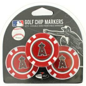 【ロサンゼルス エンゼルス/Los Angeles Angels】 ポーカーチップ ゴルフマーカー 3個セット [ボールマーカー ゴルフ用品 ゴルフ グッズ MLB メジャーリーグ 野球]【楽ギフ_包装】