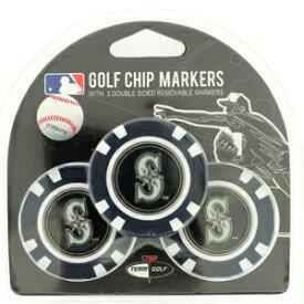 【シアトル マリナーズ/Seattle Mariners】 ポーカーチップ ゴルフマーカー 3個セット [ボールマーカー ゴルフ用品 ゴルフ グッズ MLB メジャーリーグ 野球]【楽ギフ_包装】