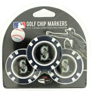【メール便送料無料】【シアトル マリナーズ/Seattle Mariners】 ポーカーチップ ゴルフマーカー 3個セット [ボールマーカー ゴルフ用品 ゴルフ グッズ MLB メジャーリーグ 野球]【楽ギフ_包装】