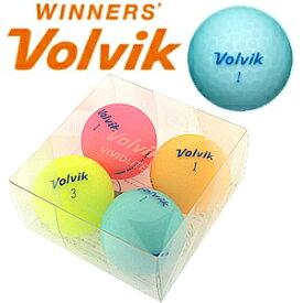 【Volvik/ボルビック】4球パック VIVIT LITE ASST ゴルフボール 3ピース マットボール【ビビット ライト ゴルフ用品 マット ボール】