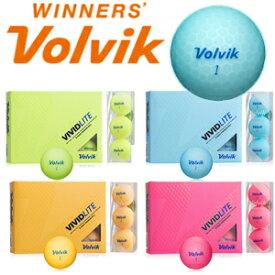 【Volvik/ボルビック】 VIVIT LITE ゴルフボール 1ダース 12球入り 3ピース マットボール【ビビット ライト ゴルフ用品 マット ボール】【送料無料】