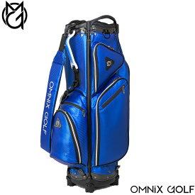 今だけポイント5倍!【メーカー直送】OMNIX GOLF CB Carbon Blue 軽量キャディバッグ カーボン ブルー オムニクスゴルフ OM21SSCBCB-BL【送料無料】