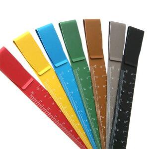 定規 クリップルーラー 10cm アルミ ものさし しおり カラー カラフル ハイタイド HIGHTIDE かわいい おしゃれ