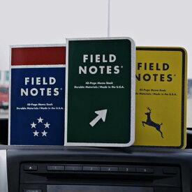 【限定】FIELD NOTES フィールドノートメモブック 3-PACKS MILE MARKER