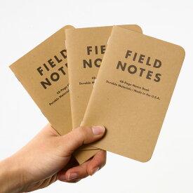 FIELD NOTES フィールドノート メモブック 3-PACKS