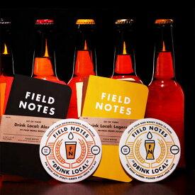 【限定】FIELD NOTES フィールドノート メモブック 3-PACKS DRINK LOCAL