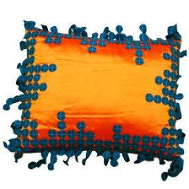 SALE 50%off!! HUGオリジナル フェルトクッション 長方形 オレンジ ブルー インテリアファブリック クッション その他