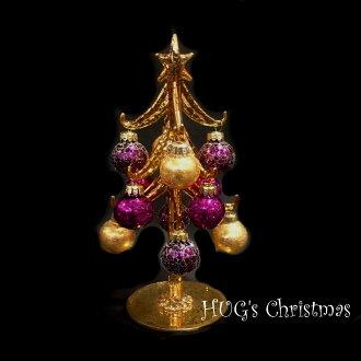 3666 HUG select Christmas tree clear silver glass tree green Christmas trees