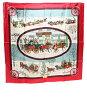爱马仕他90丝绸围巾lhiver en Poste冬天的邮件马车HERMES女士