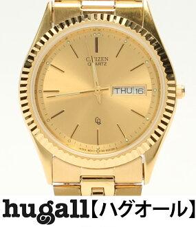 Citizen 6100-R00391 quartz gold clockface watch Citizen men [10P29Aug16]