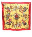 エルメス カレ90 シルクスカーフ LES FETES DU ROI SOLEIL 太陽王の祝典 HERMES レディース 【中古】