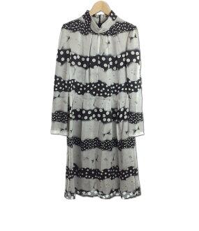 ginzamagi SIZE 40(M)丝绸连衣裙GINZA MAGGY女士