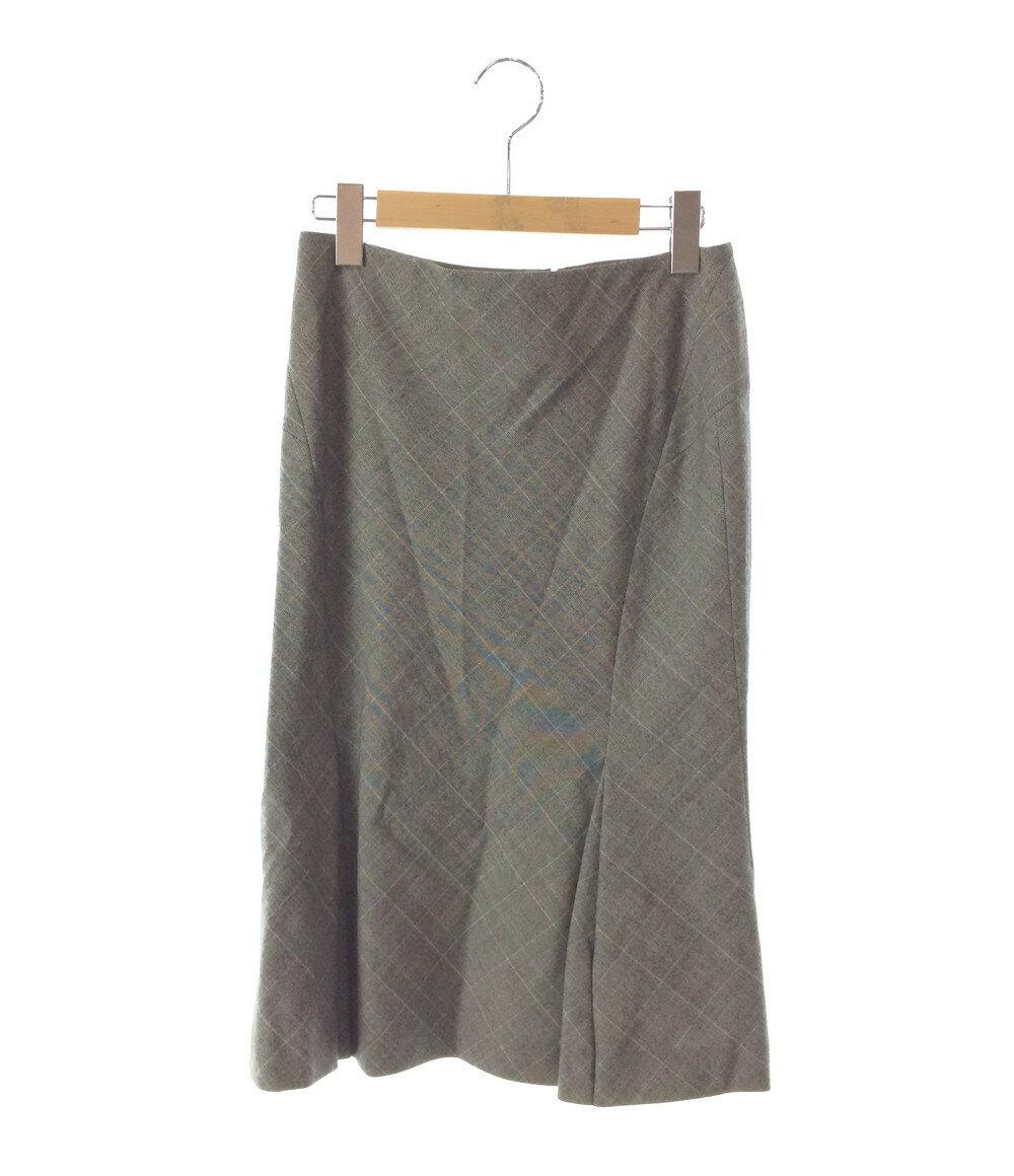 エヴー SIZE 34 (S) 美品 グレー、ホワイト チェック柄スカート ET VOUS レディース【中古】 【福】
