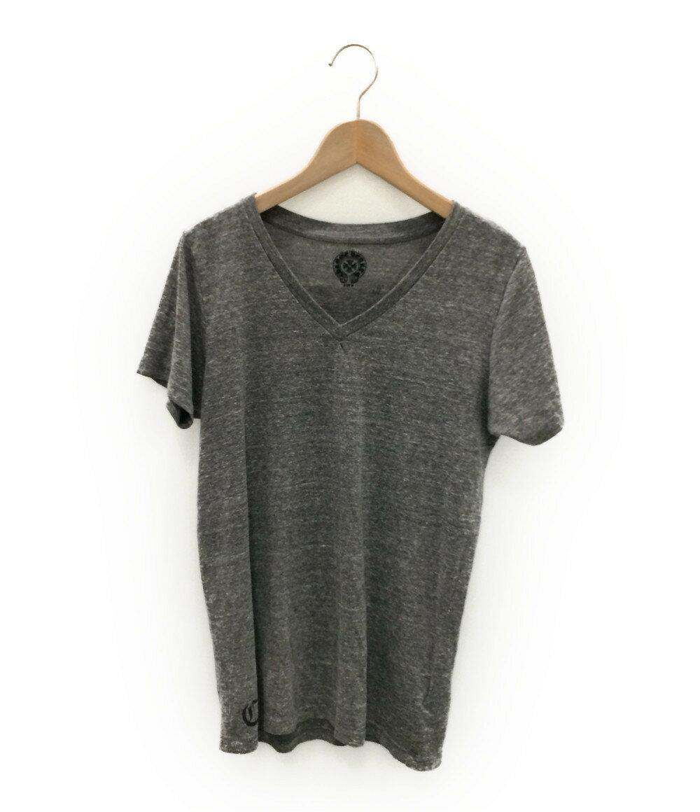 クロムハーツ SIZE M (M) 霜降り Vネック Tシャツ CHROME HEARTS レディース【中古】