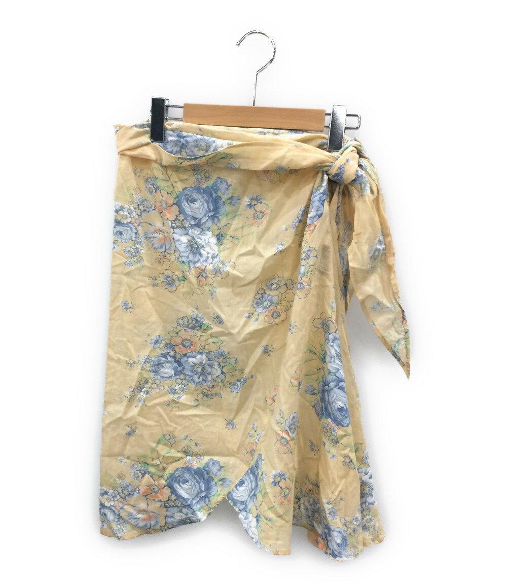 ケンゾー SIZE M (M) 花柄 サイドリボン スカート KENZO レディース【中古】