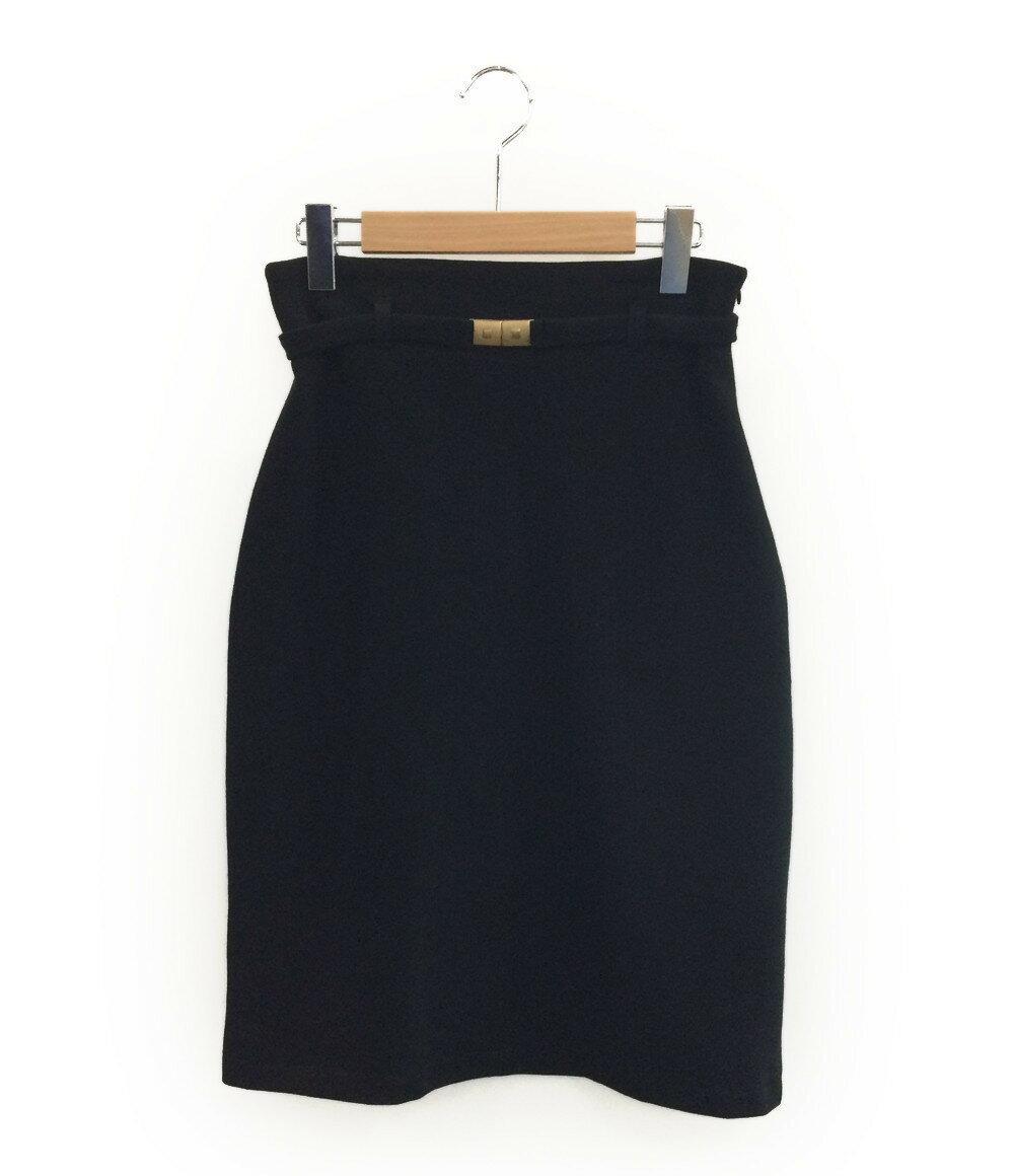 アニエスベー SIZE T2 (M) 美品 ベルト付きタイトスカート Agnes b. レディース【中古】