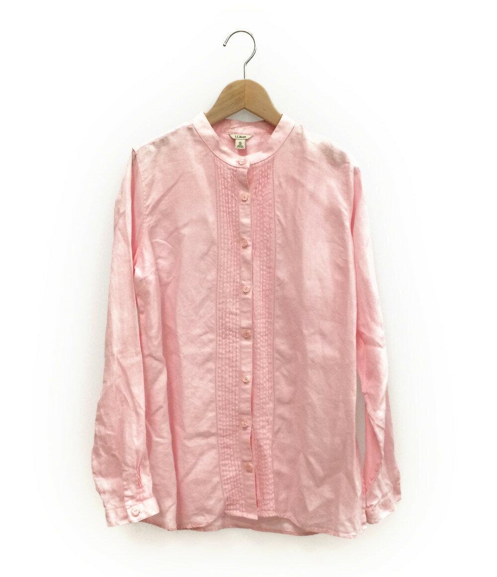 エルエルビーン SIZE XL (XL以上) ノーカラー リネンシャツ L.L.Bean レディース【中古】