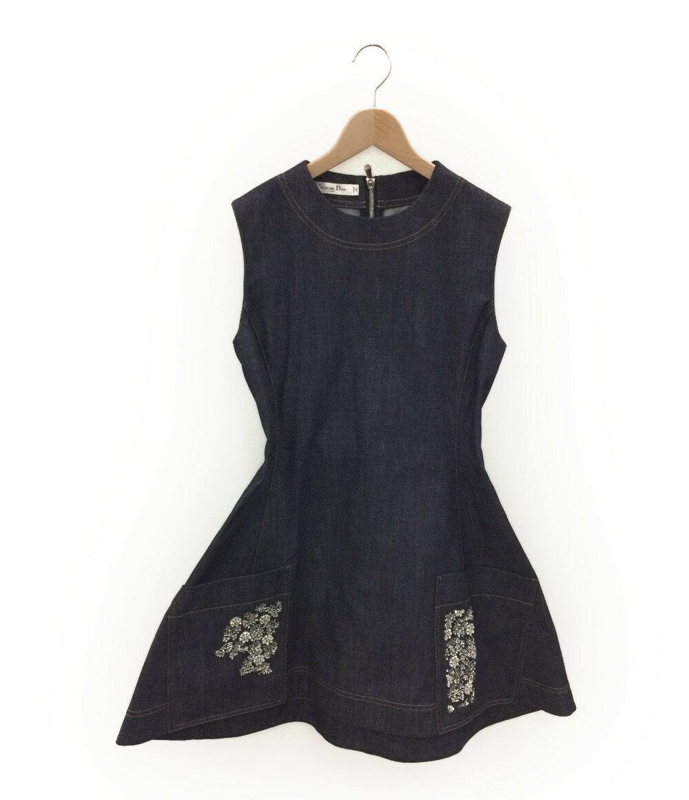 クリスチャンディオール SIZE 44 (L) 美品 16SS 装飾デニムワンピース Christian Dior レディース【中古】