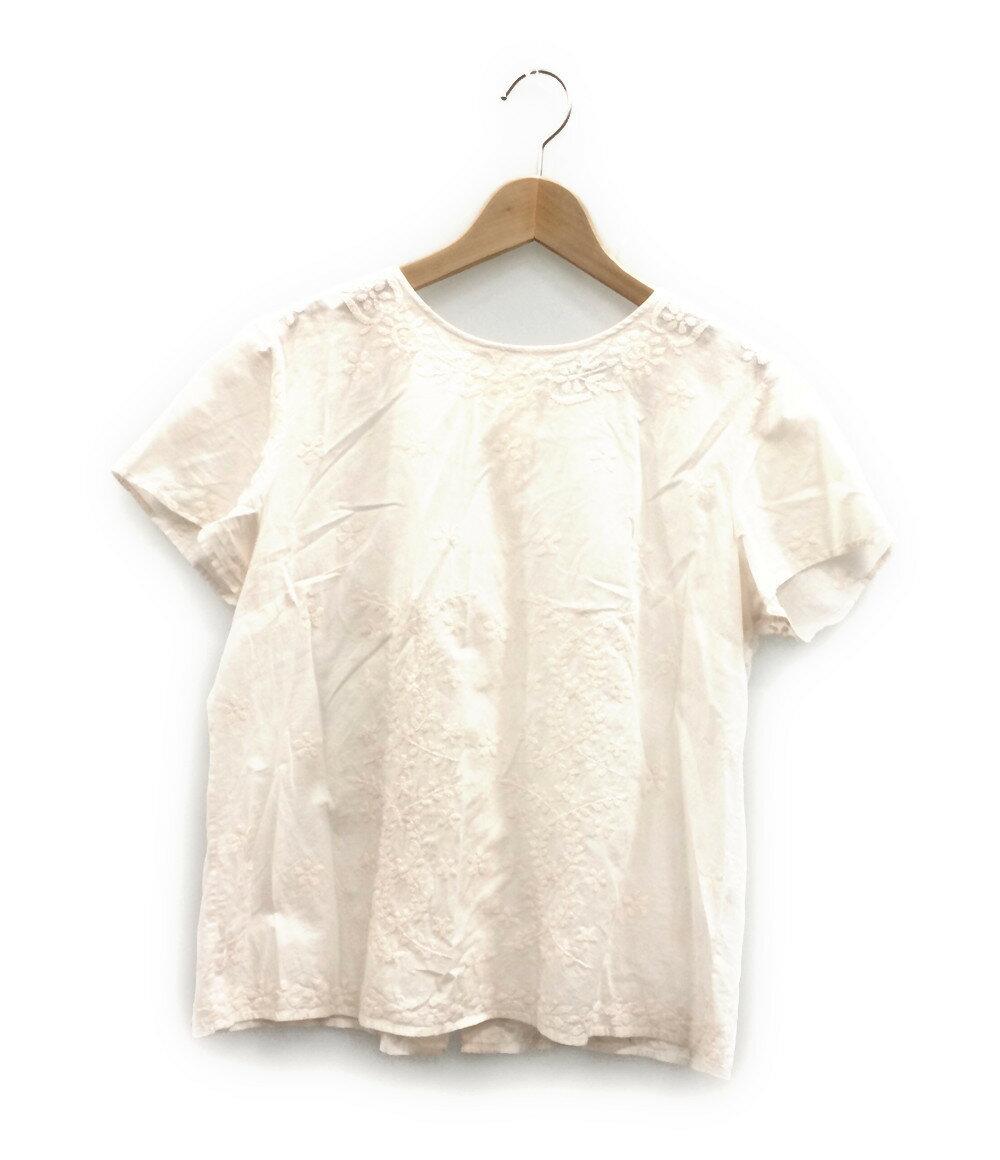 アニエスベー SIZE 40 (M) 美品 刺繍 半袖ブラウス Agnes b. レディース【中古】