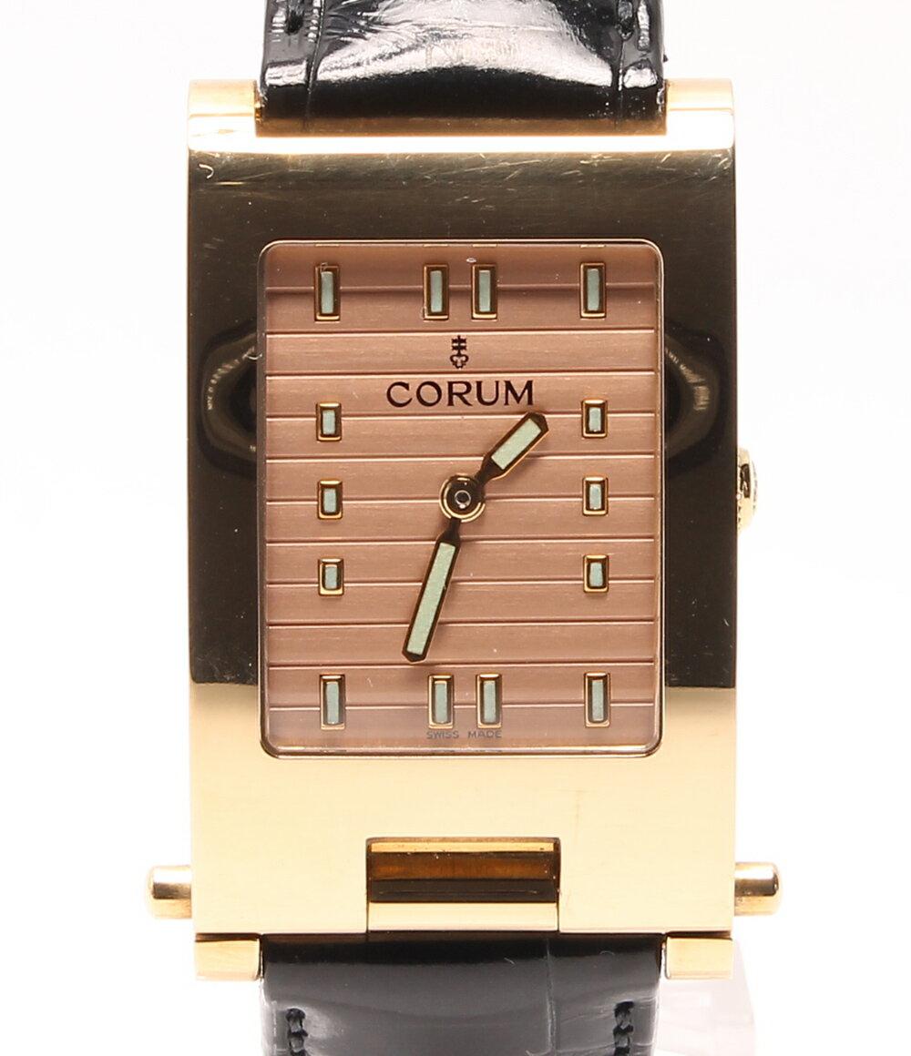 コルム ダボガン 64.151.56 クォーツ 腕時計 ピンク CORUM レディース【中古】