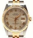 ロレックス 腕時計 デイトジャスト   16233 自動巻き ピラミッドアイボリー ROLEX メンズ 【中古】