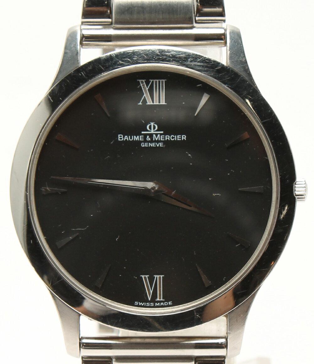 ボームアンドメルシエ 腕時計 クラシマ MV045193 クオーツ ブラック BAUME&MERCIER メンズ 【中古】