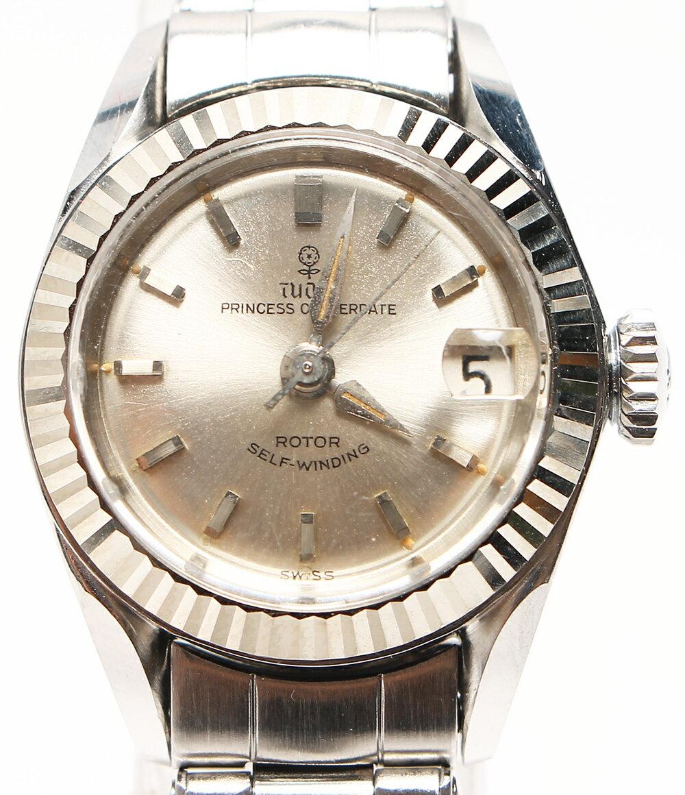 チュードル プリンセス オイスターデイト 7981 手巻き 腕時計 シルバー文字盤 TUDOR レディース 【中古】