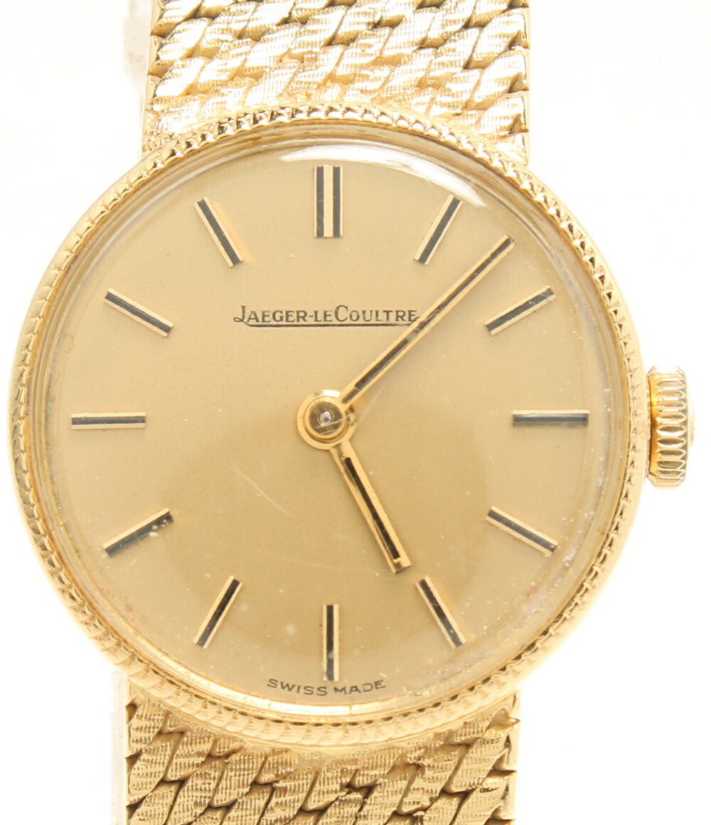 訳あり ジャガールクルト K18 YG 腕時計 手巻き ゴールド文字盤 JAEGER LECOULTRE レディース 【中古】