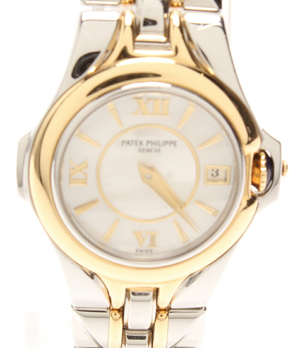 パテックフィリップ 腕時計 スカルプチャー 4891/1JA クォーツ PATEK PHILIPPE レディース 【中古】