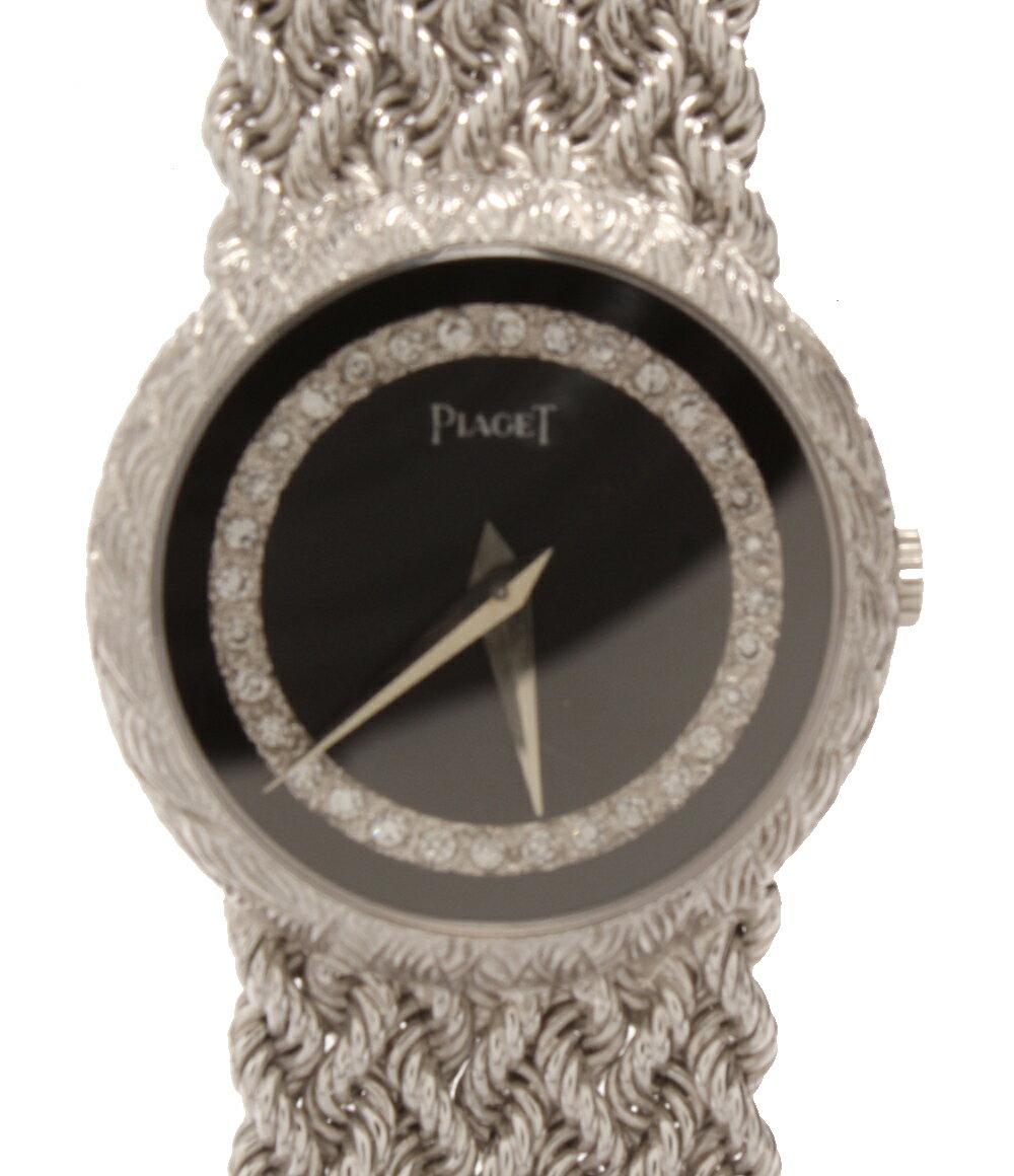 ピアジェ 腕時計 922E22 手巻き サークルダイヤモンド PIAGET レディース 【中古】
