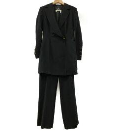 【中古】美品 サルバトーレフェラガモ SIZE I 40 (M) パンツスーツ Salvatore Ferragamo レディース