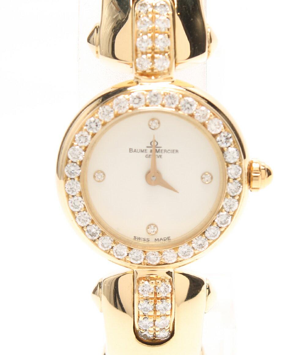 【中古】美品 ボームアンドメルシエ 腕時計 950 16687 クォーツ BAUME&MERCIER レディース