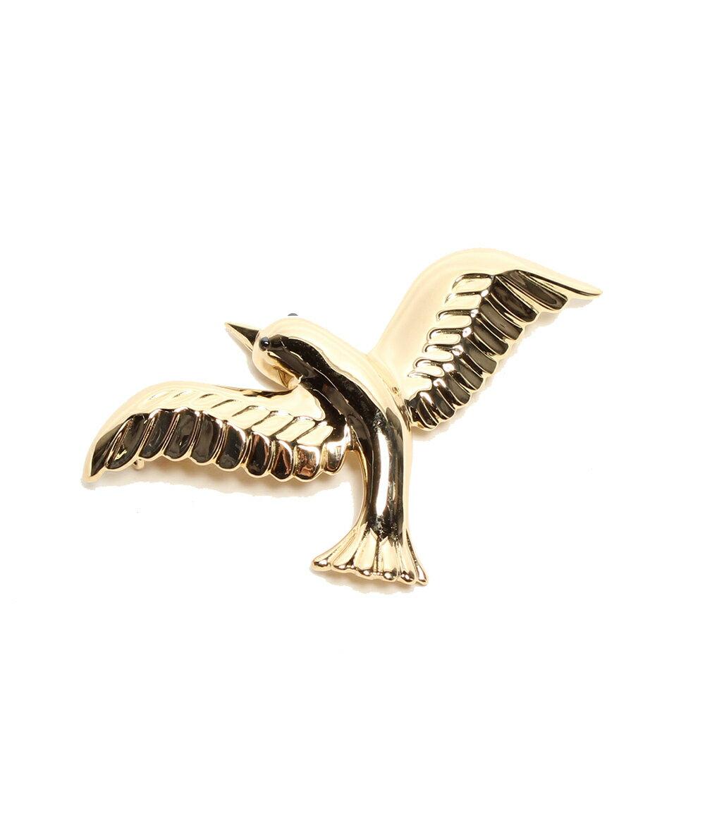 美品 ヴァンクリーフアンドアーペル サファイア 0.05ct 鳥モチーフ ブローチ K18 VAN CLEEF&ARPELS レディース 【中古】