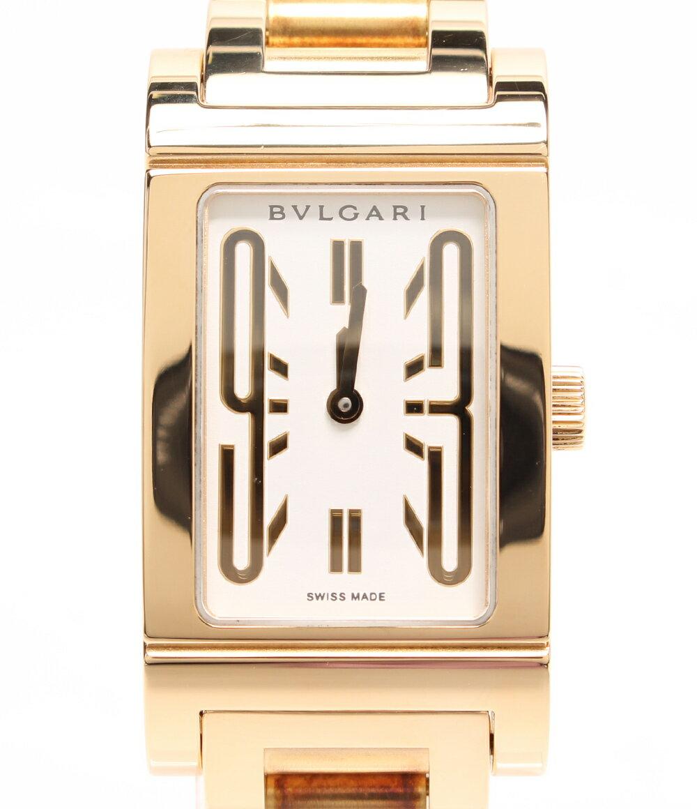 ブルガリ 腕時計 レッタンゴロ RT39G クォーツ ホワイト Bvlgari レディース 【中古】