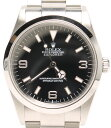 【中古】美品 ロレックス 腕時計 エクスプローラー1 114270 自動巻き ブラック ROLEX メンズ