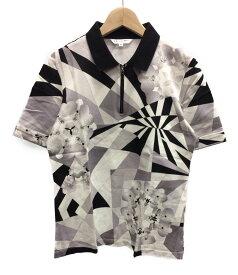 【中古】美品 レオナールスポーツ SIZE 40 (M) 胸ジップ 半袖ポロシャツ LEONARD SPORT レディース