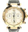 【中古】カルティエ 腕時計 パシャ38 クロノグラフ 自動巻き Cartier メンズ