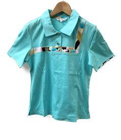 【中古】美品 レオナールスポーツ SIZE 40 (M) 半袖ポロシャツ LEONARD SPORT レディース